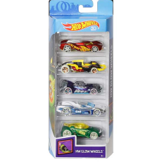 پک 5 تایی ماشین‌های HOT WHEELS مدل GLOW WHEELS - Hot Wheels 5 pack Glow Wheels